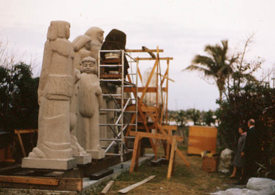 Norton sculptures under construction 001