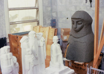 Norton sculptures under construction 059